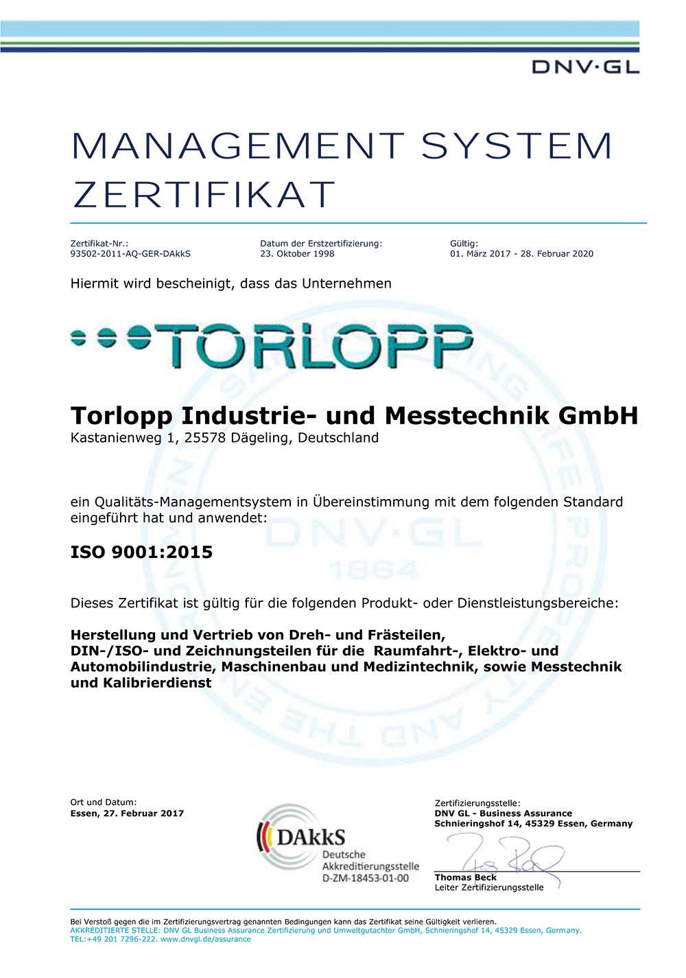 Zertifikat-ISO-9001-2015