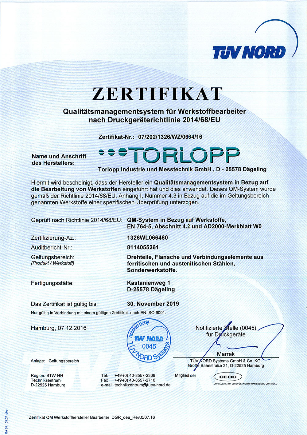 Zertifikat-QM